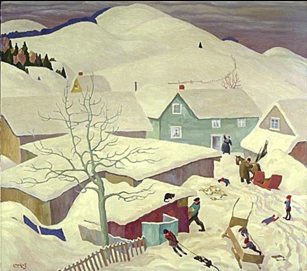 Paysage d'hiver dans les Laurentides