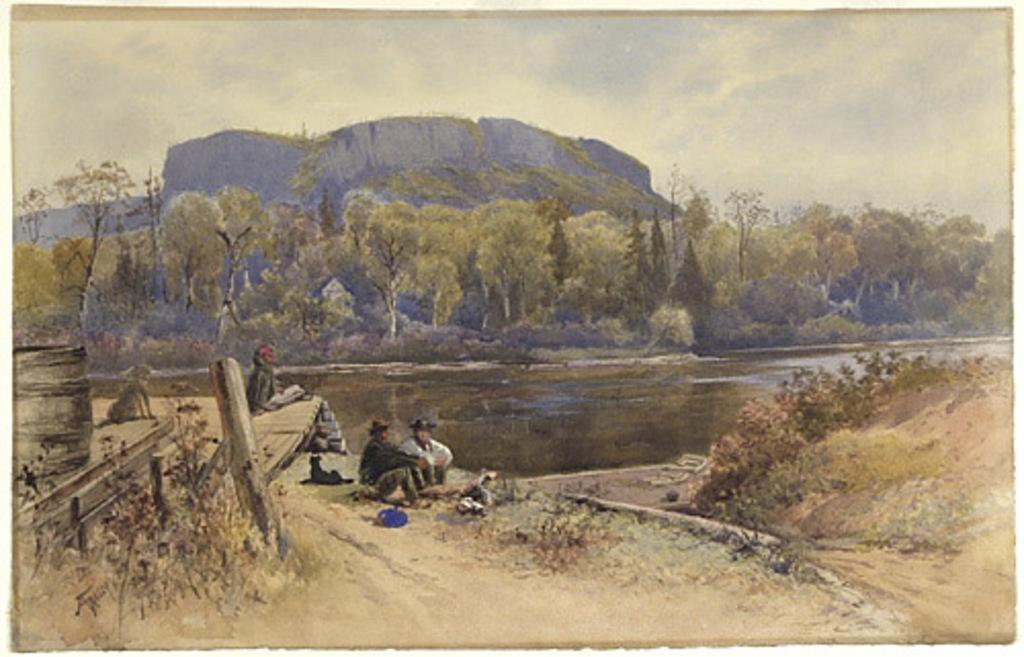 Vue de la rivière Kaministiquia avec le mont McKay