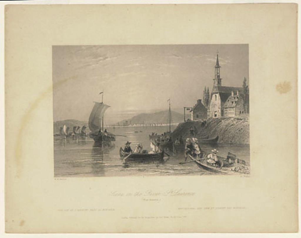Vue sur le Saint-Laurent, près de Montréal, extrait du Canadian Scenery Illustrated, vol. II