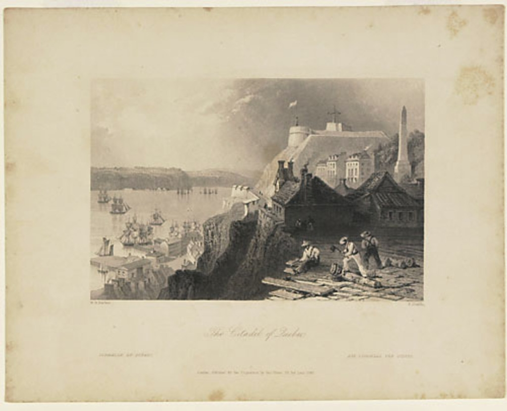 La Citadelle de Québec, extrait du Canadian Scenery Illustrated, vol. II