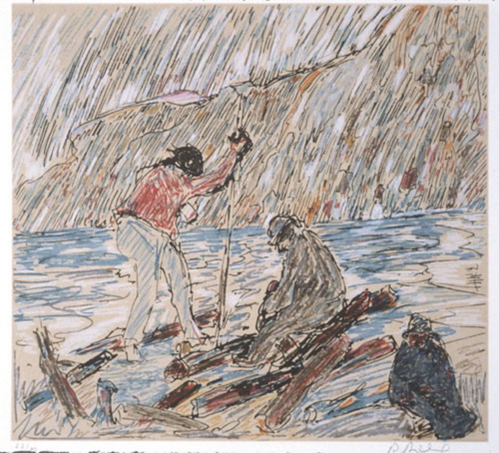 La Drave, du livre d'artiste «Menaud maître draveur»