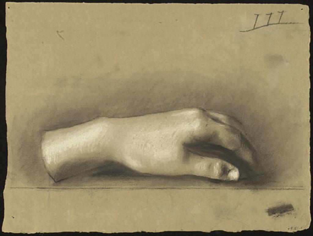 Étude de main d'après le plâtre