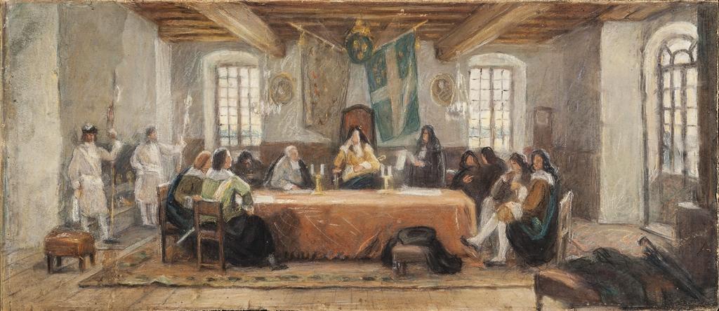 Étude pour « Le Conseil souverain »