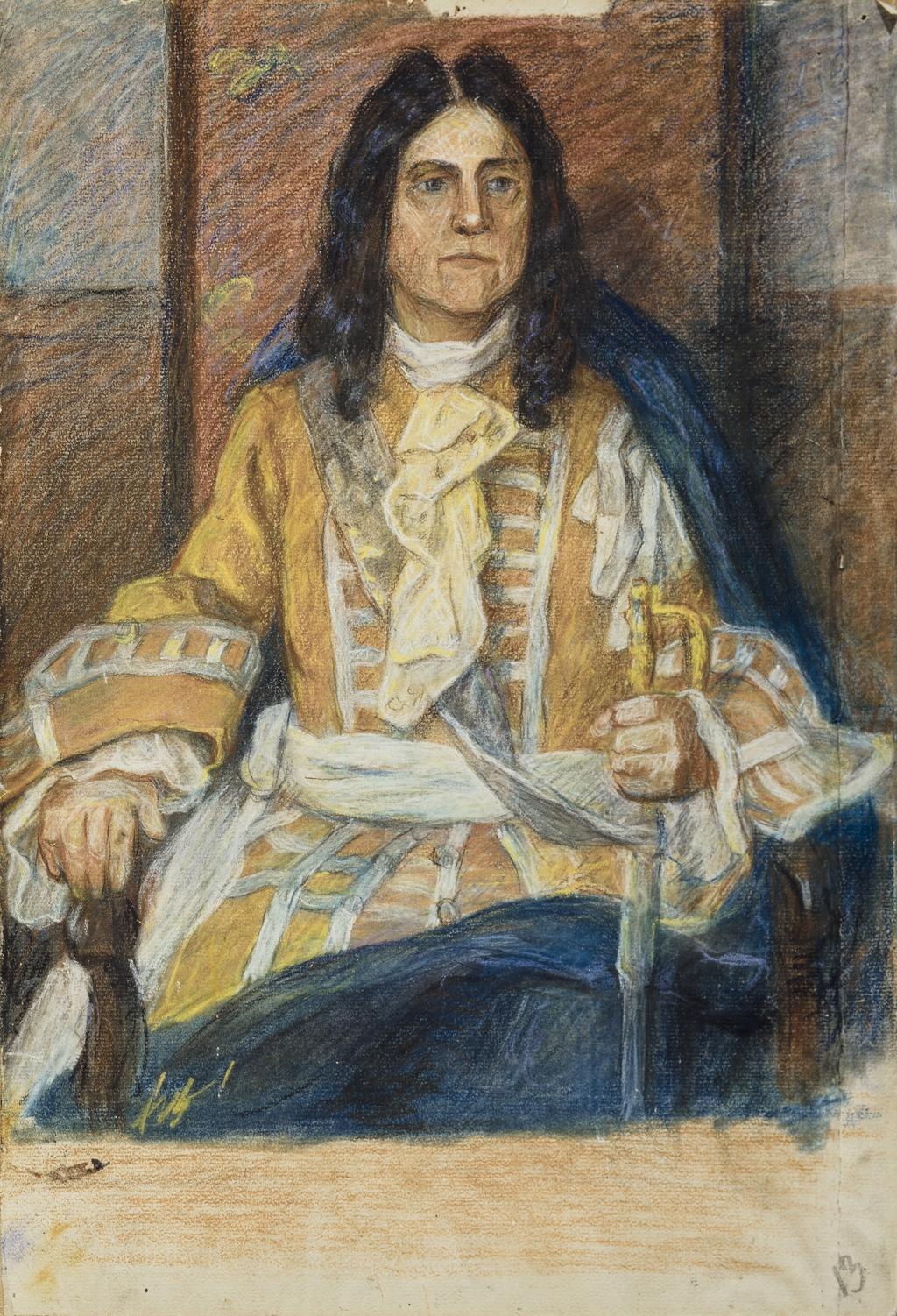 Le Gouverneur Augustin de Saffray de Mézy (Mésy). Étude pour « Le Conseil souverain »