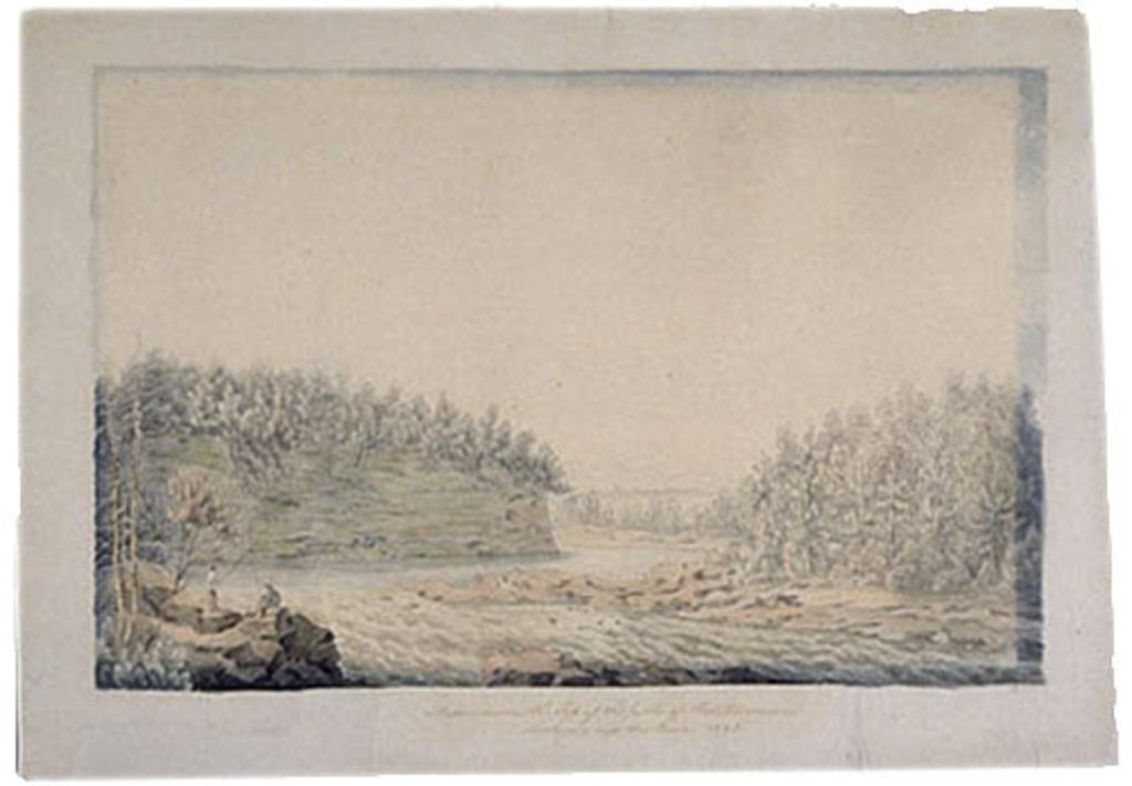 Vue prise du sommet de la chute Montmorency, vers l'amont