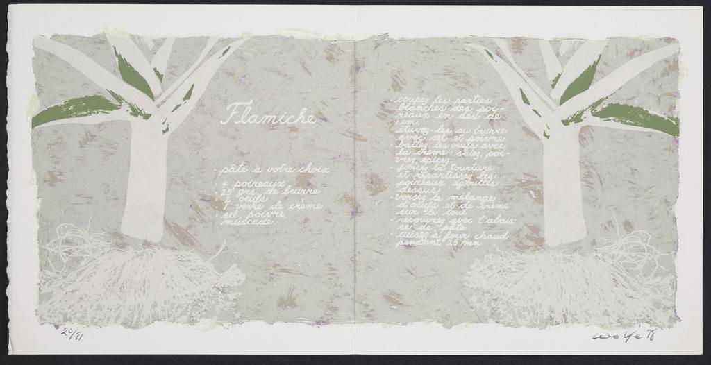 Flamiche, du livre d'artiste «Graff Dinner»