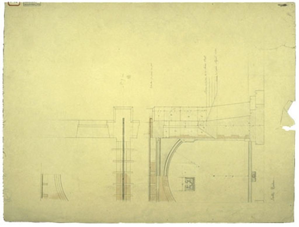Église Sainte-Anne de Fall River, États-Unis. Structure des piliers, plan nº 7 (bis)