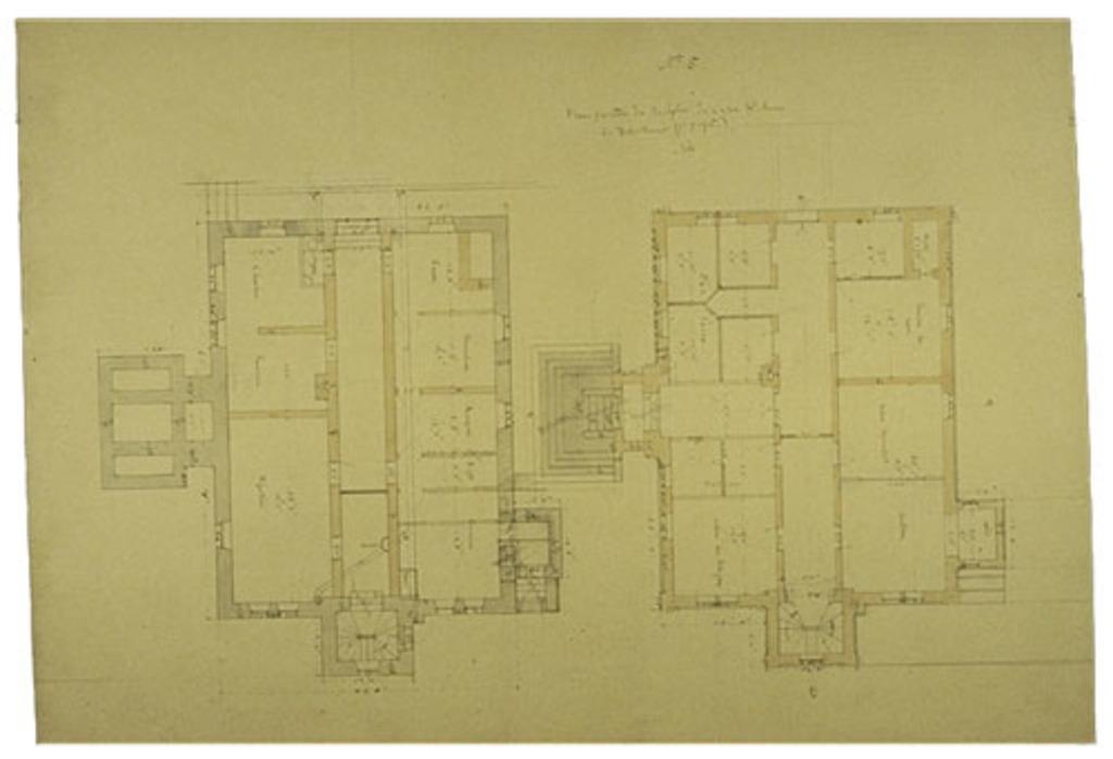 Presbytère de Sainte-Anne de Fall River, États-Unis. Plans au sol, projet nº 1, plan nº 5