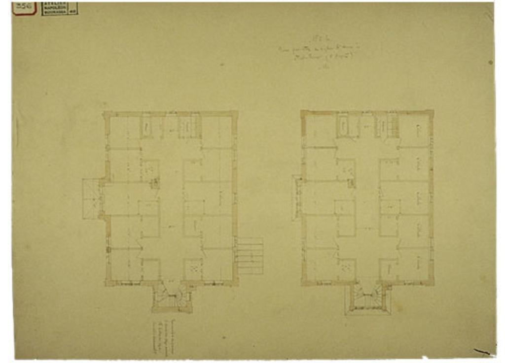 Presbytère de Sainte-Anne de Fall River, États-Unis. Plans au sol, projet nº 1, plan nº 5 (bis)
