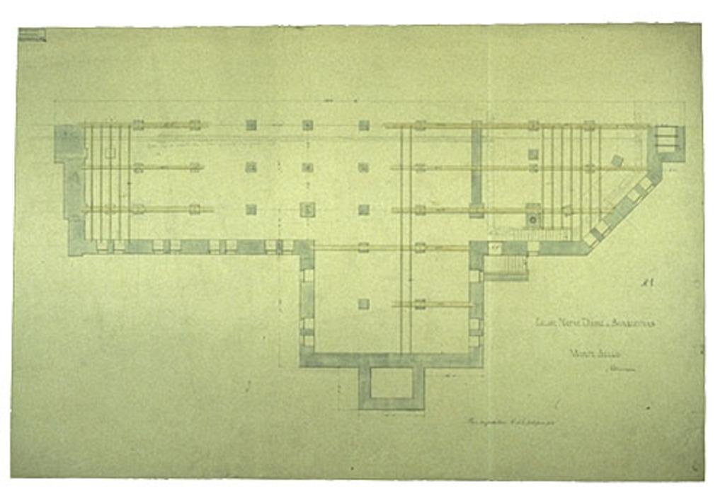 Église Notre-Dame-de-Bonsecours, Montebello. Plan des fondations, nº 1