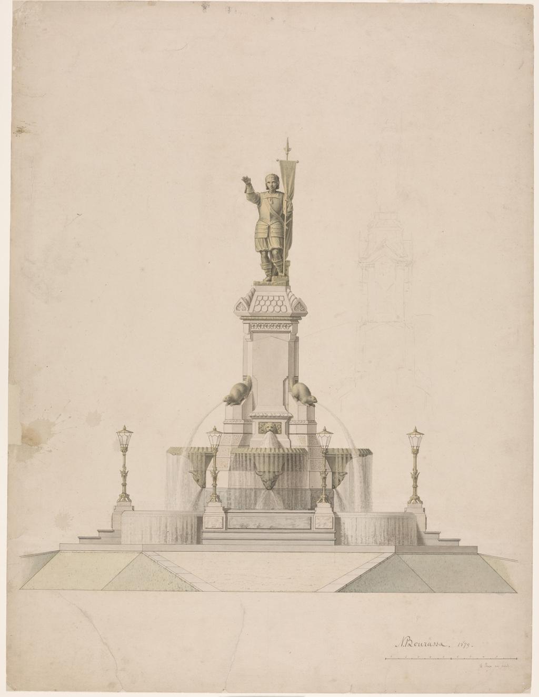 Projet d'un monument à Maisonneuve, à Montréal