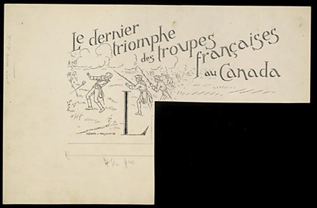 Le Dernier Triomphe des troupes françaises au Canada (La Bataille de Sainte-Foy en avril 1760)
