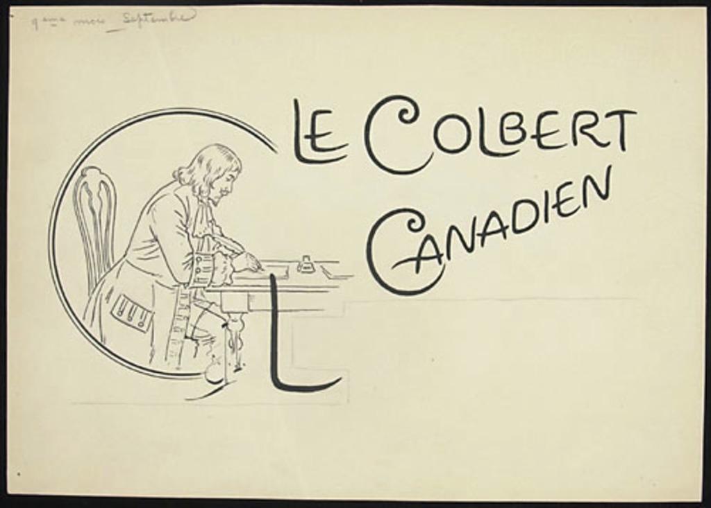 Le Colbert canadien (L'Intendant Jean Talon)