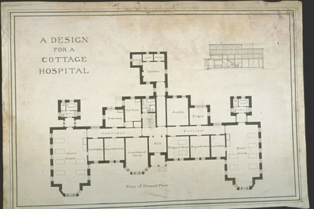 A Design for a Cottage Hospital (Plan of Ground Floor)