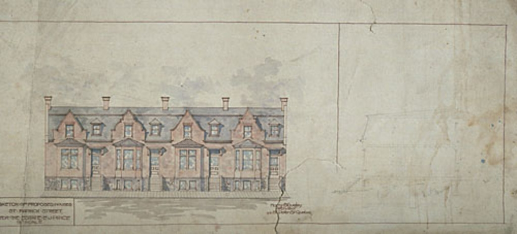 Sketch of Proposed Houses St-Patrick Street for the Estate E.J. Price