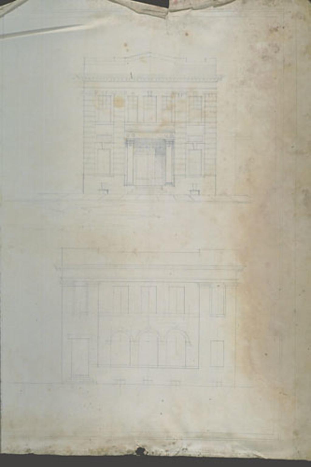 Plan de deux façades