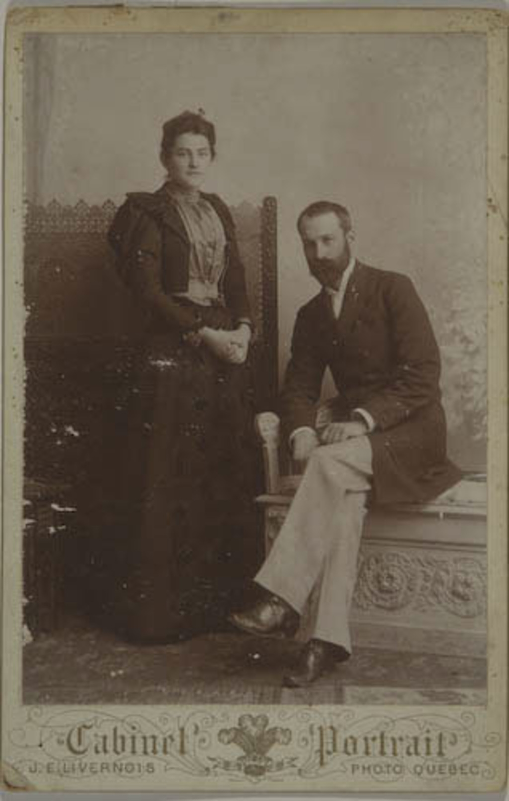 Pierre D'Auteuil et son épouse née Marie-Alexine-Adèle Dumas, de l'album de la famille Taché-Cimon