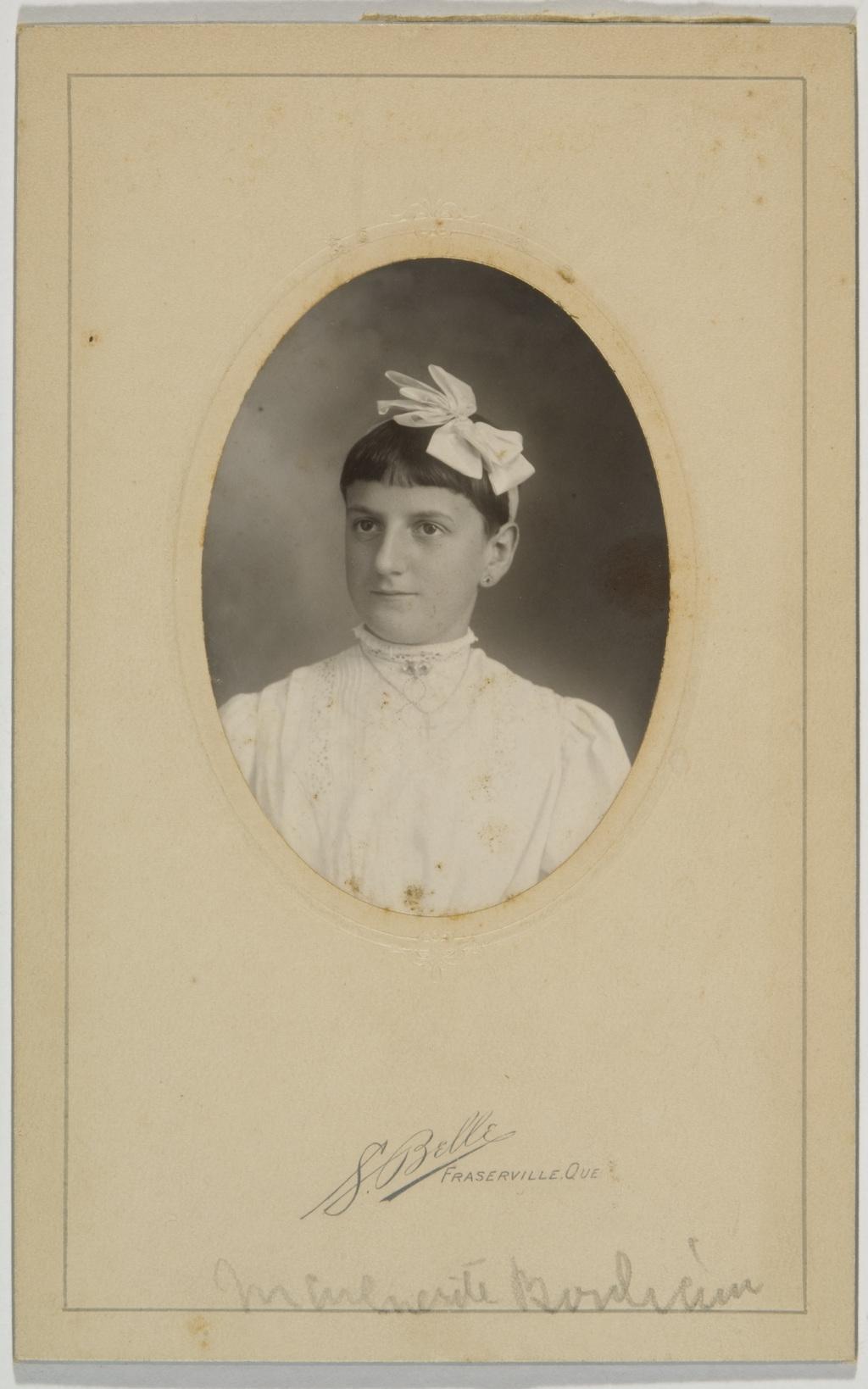 Marguerite Bouliane, de l'album de la famille Taché-Cimon