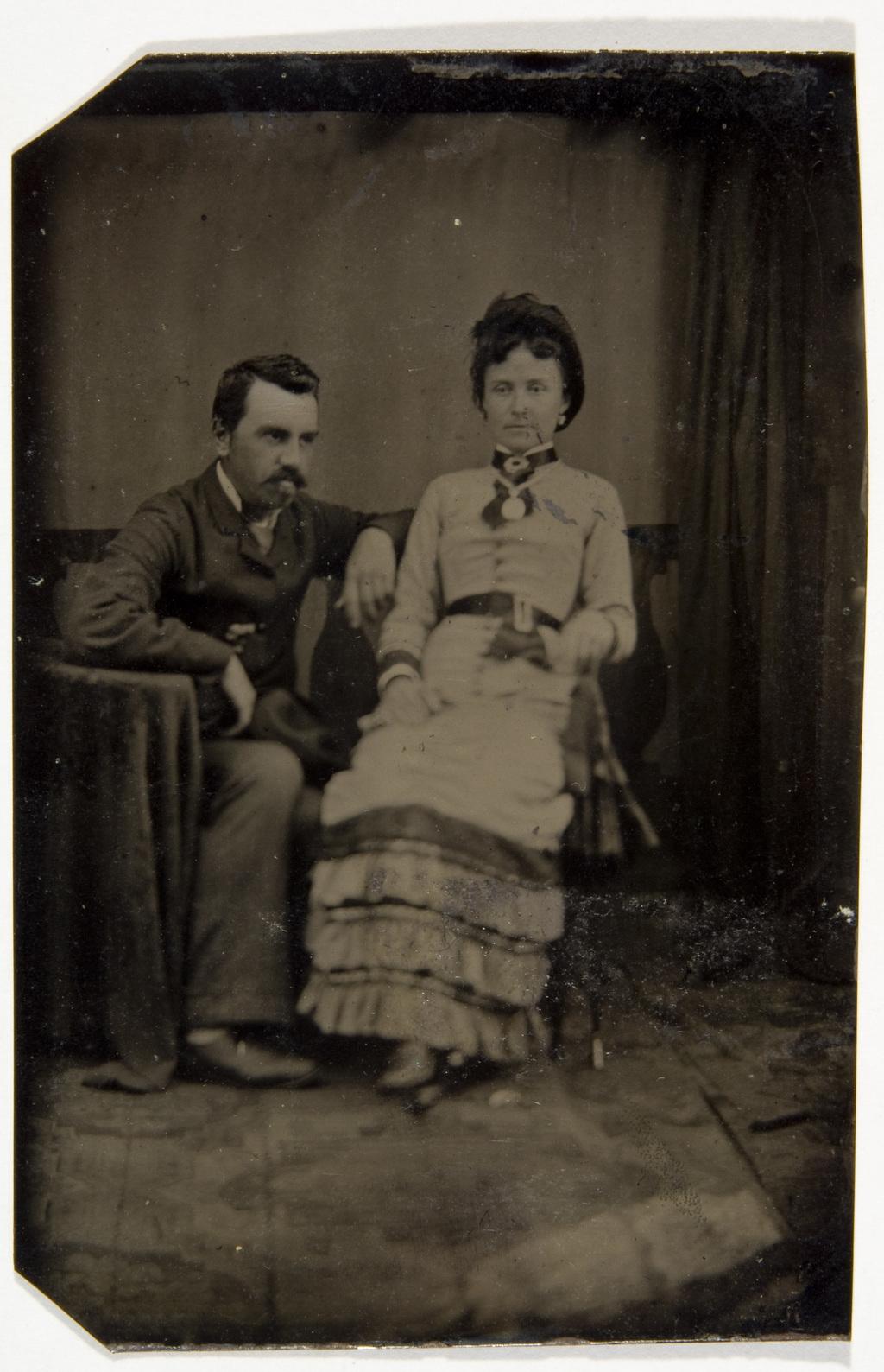 Portrait de couple, de l'album de la famille Taché-Cimon