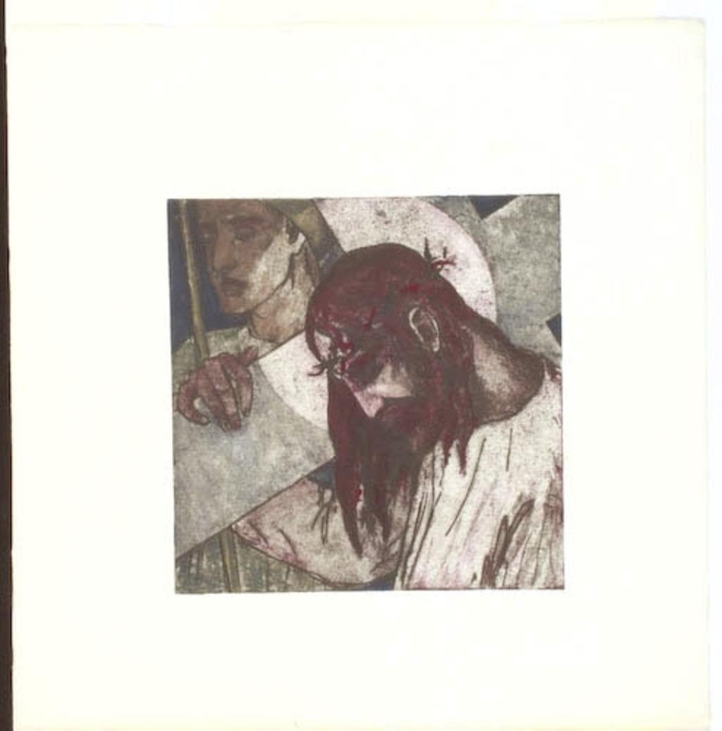 Jésus est chargé de sa croix. IIe Station du chemin de la Croix