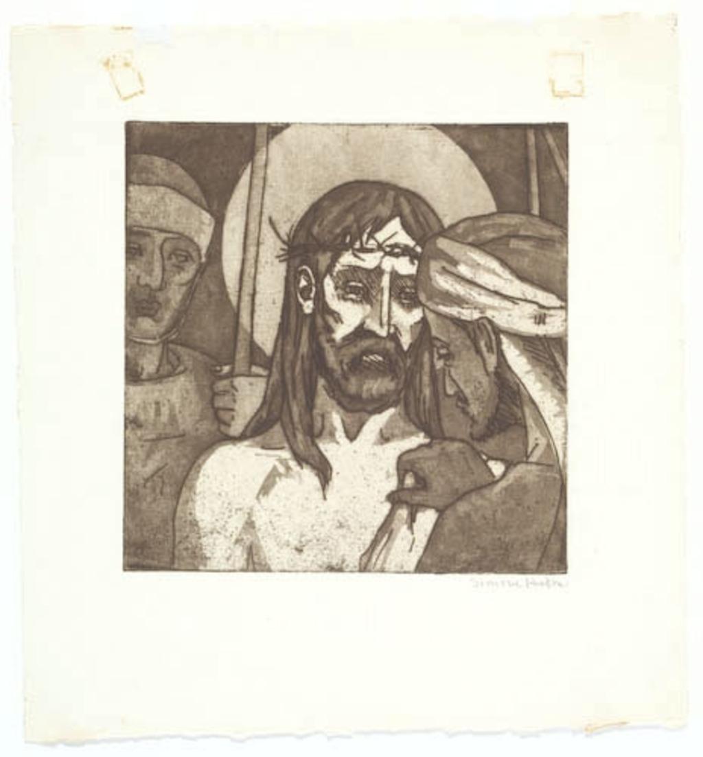 Jésus est dépouillé de ses vêtements. Xe Station du chemin de la Croix