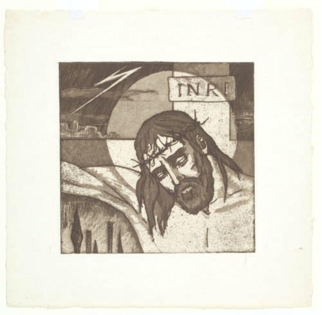 Jésus meurt sur la croix. XIIe Station du chemin de la Croix