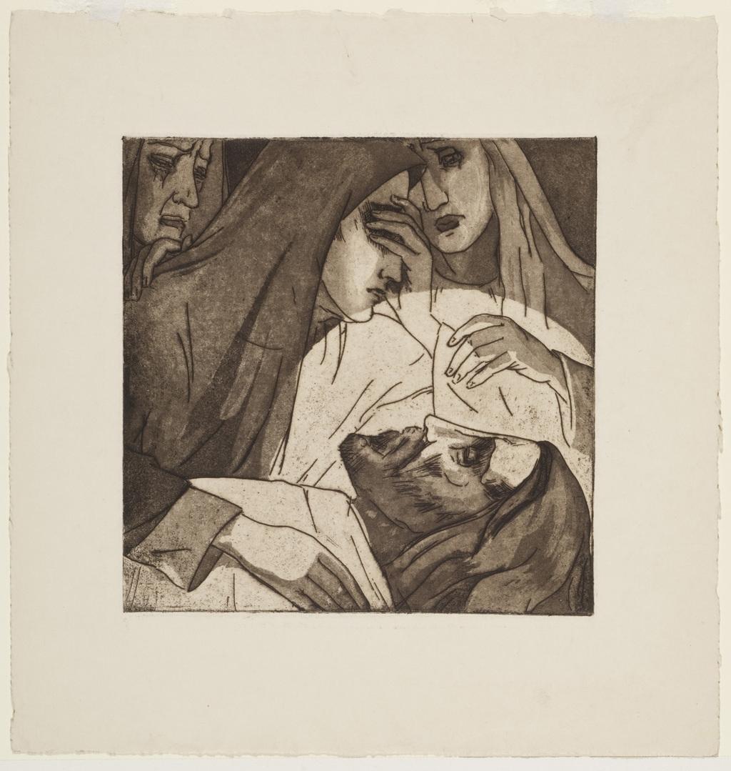 Jésus est mis au tombeau. XIVe Station du chemin de la Croix