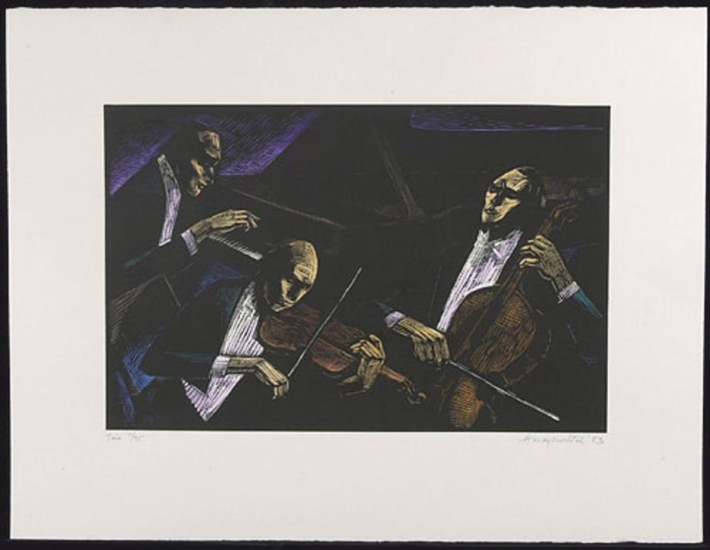 Trio, du livre d'artiste «Albert Dumouchel, un hommage»