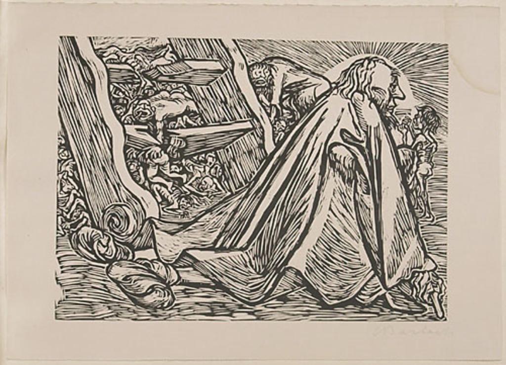 Le Divin Mendiant, du livre d'artiste Die Wandlungen Gottes (Les Métamorphoses de Dieu)