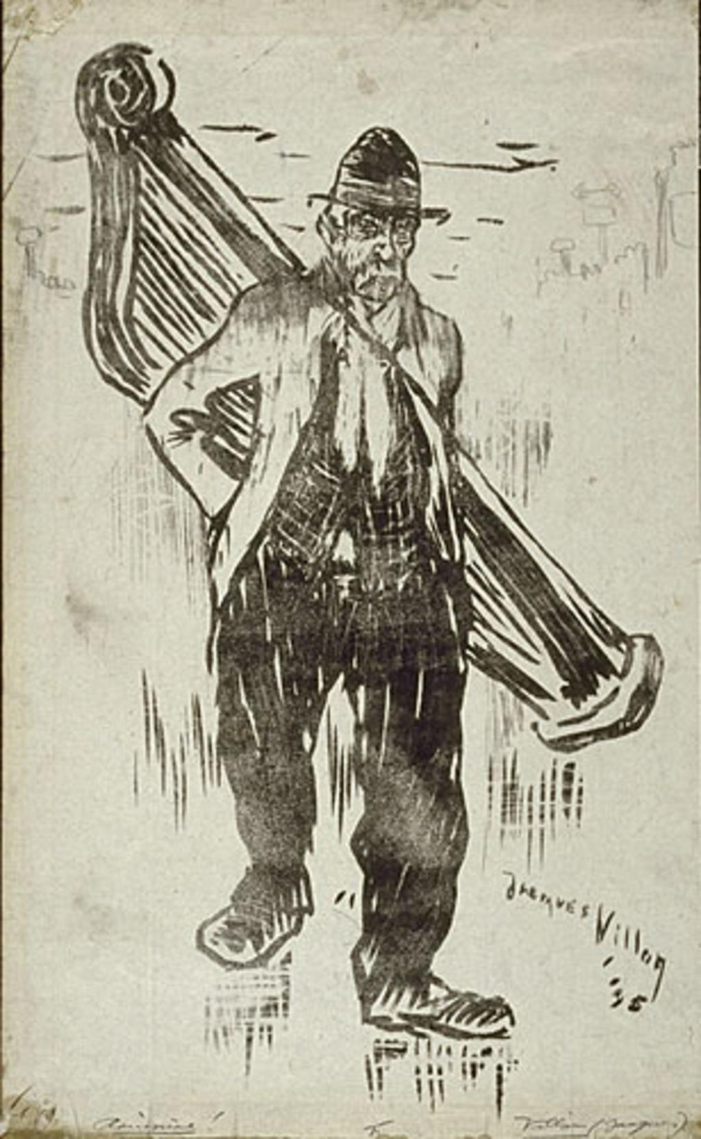 Mendiant à la harpe