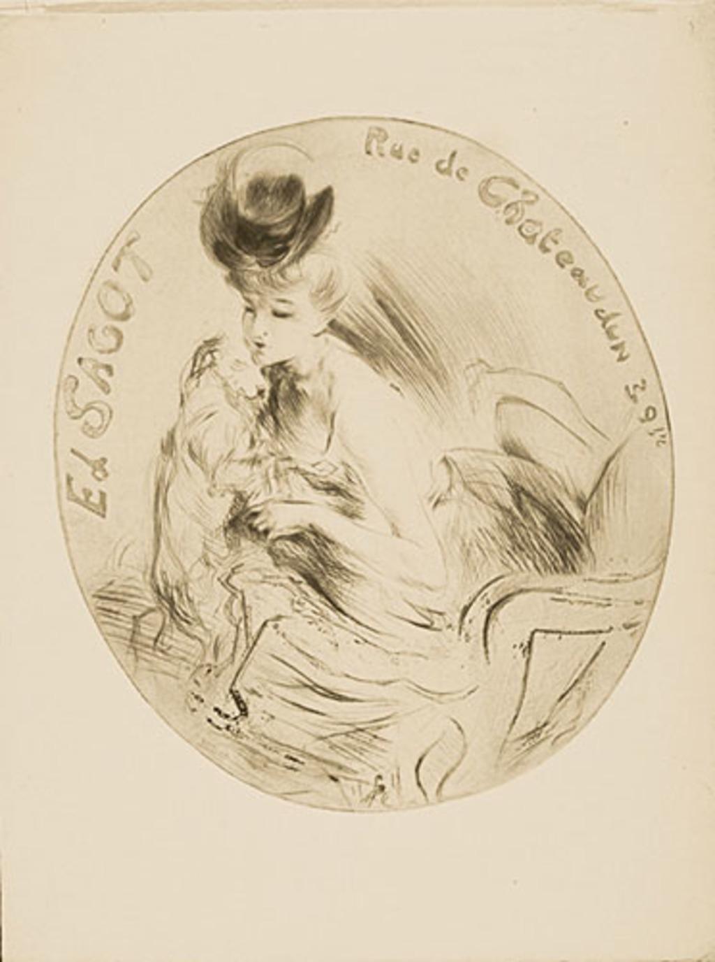 Adresse Sagot 1906 ou La Dame au chien