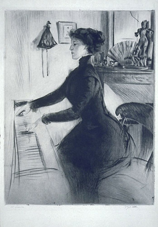 Suzanne au piano