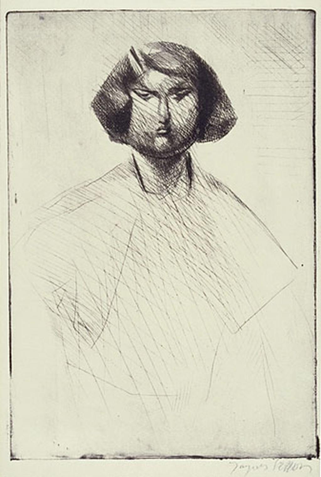 Renée de face ou Portrait d'enfant
