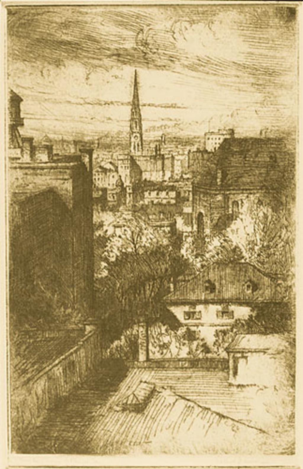Le Square Phillips vu des hauteurs, à Montréal