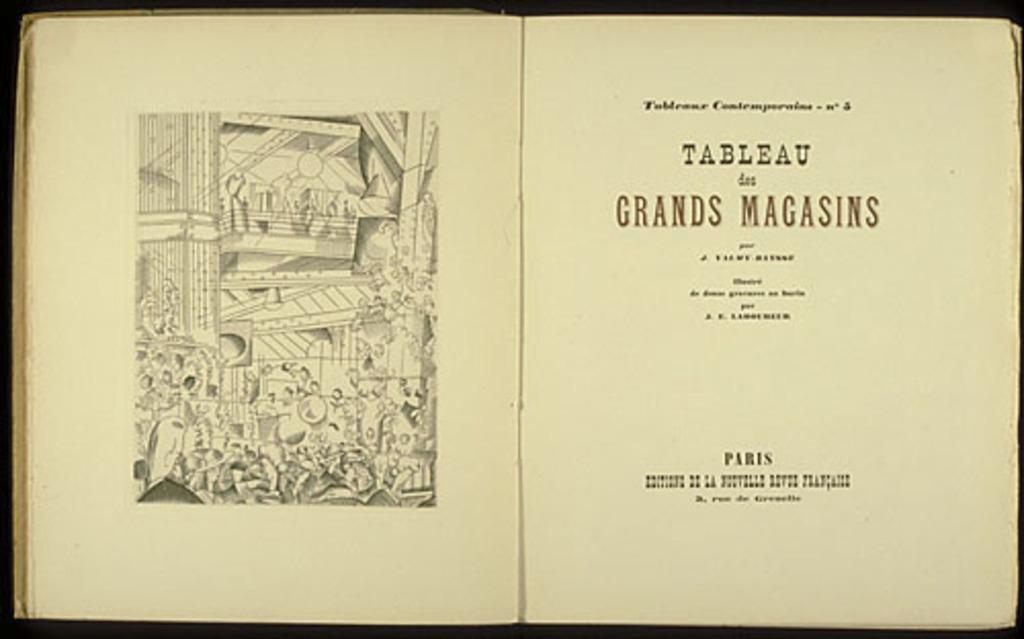 Tableau des grands magasins de J. Valmy-Baysse