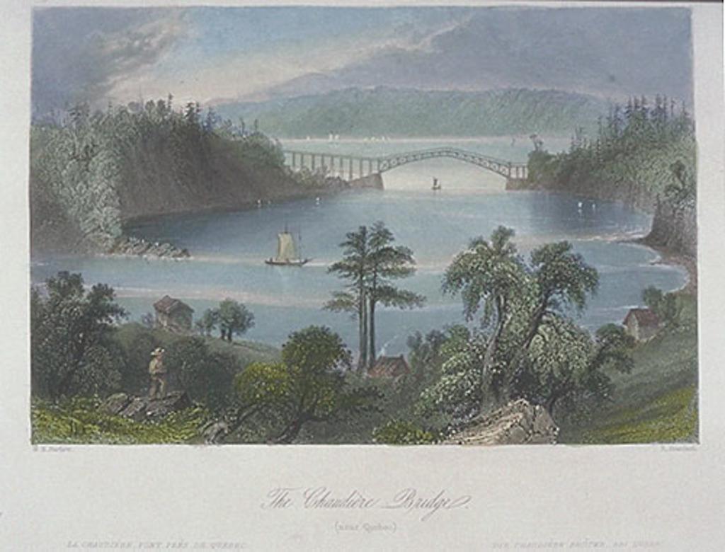 Le Pont de la Chaudière, près de Québec, extrait du Canadian Scenery Illustrated, vol. I