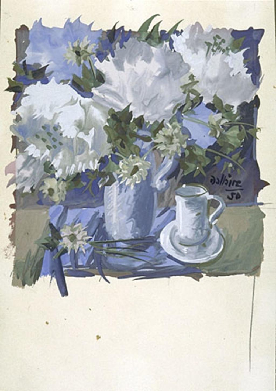 Fleurs et tasse