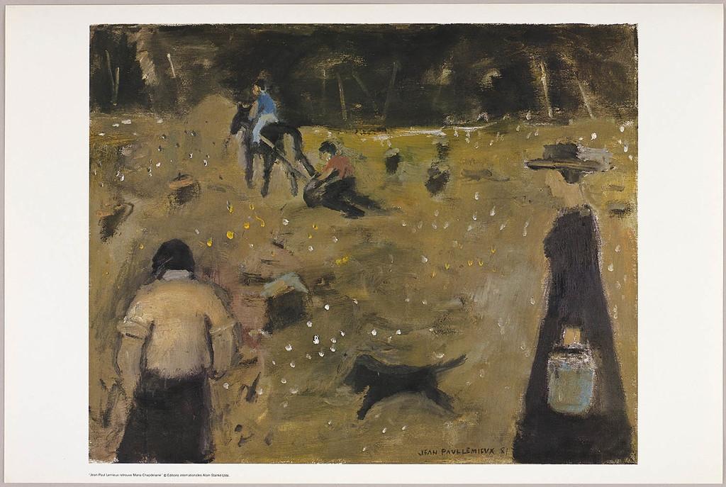 Faire de la terre, du livre illustré Jean Paul Lemieux retrouve Maria Chapdelaine