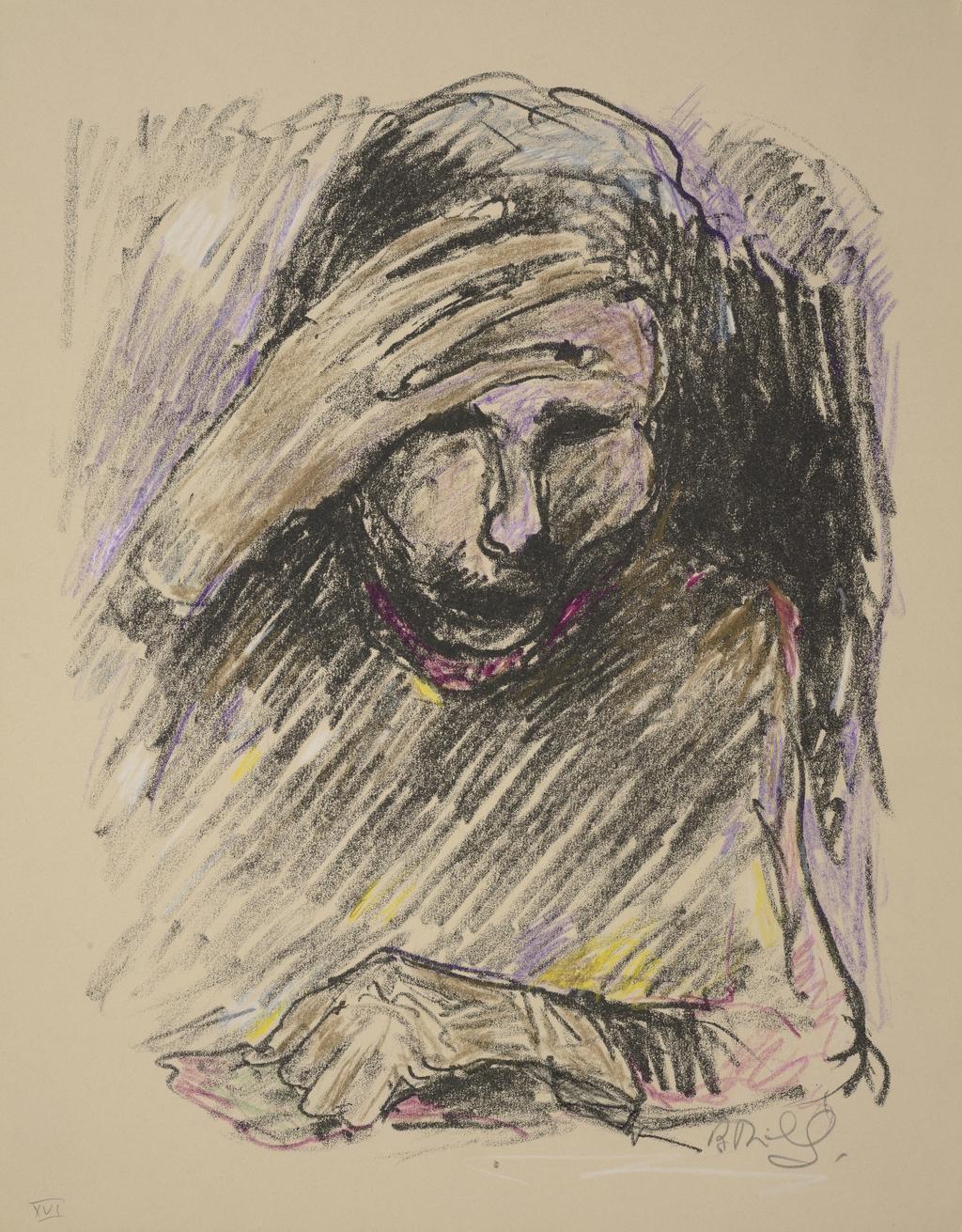 Homme lisant, du livre d'artiste «La Montagne secrète»
