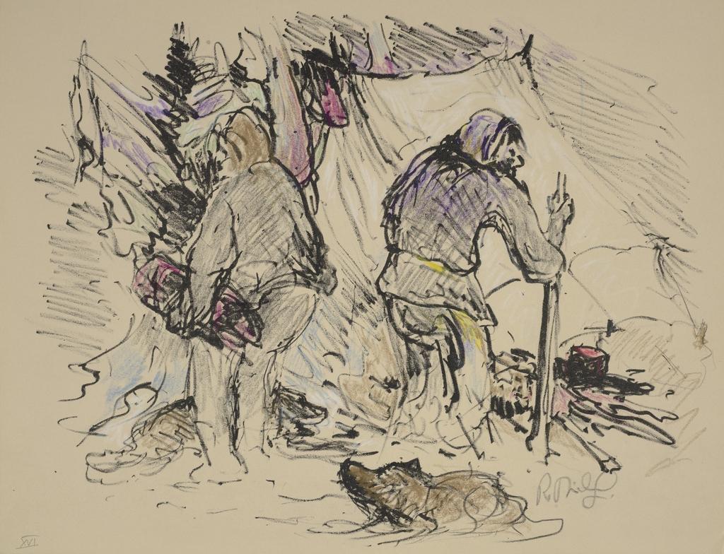 Deux Trappeurs, du livre d'artiste «La Montagne secrète»
