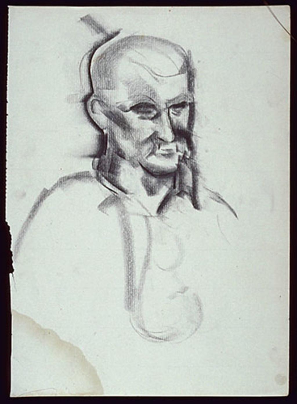 Portrait of a Bald Man (M. Morrow?)