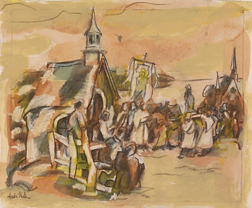 La Procession à Sainte-Famille, île d'Orléans