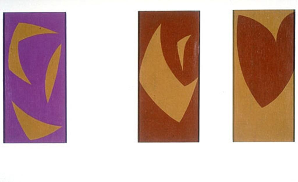 Maquette pour « Triptyque ocre-violet-rouge »