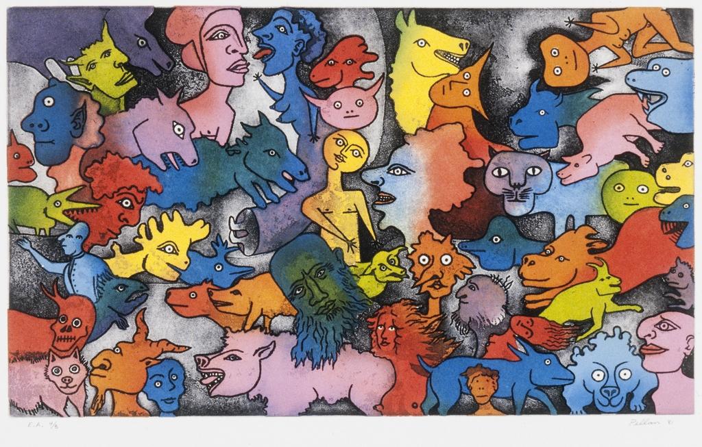 Aux petites têtes, du livre d'artiste «Délirium Concerto»
