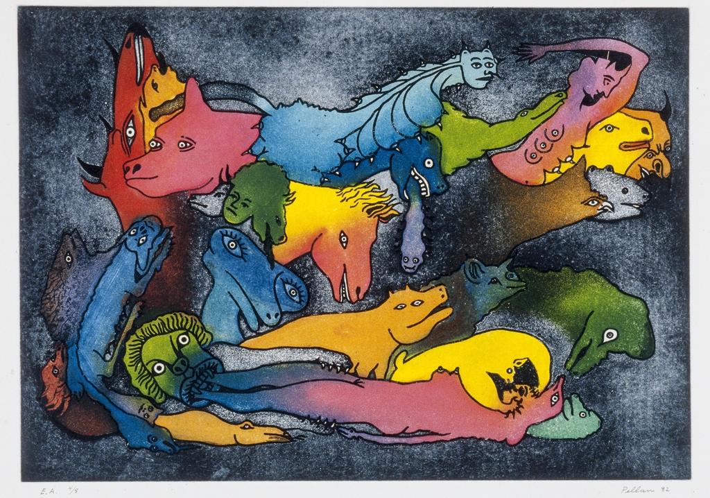À la femme allongée, du livre d'artiste «Délirium Concerto»