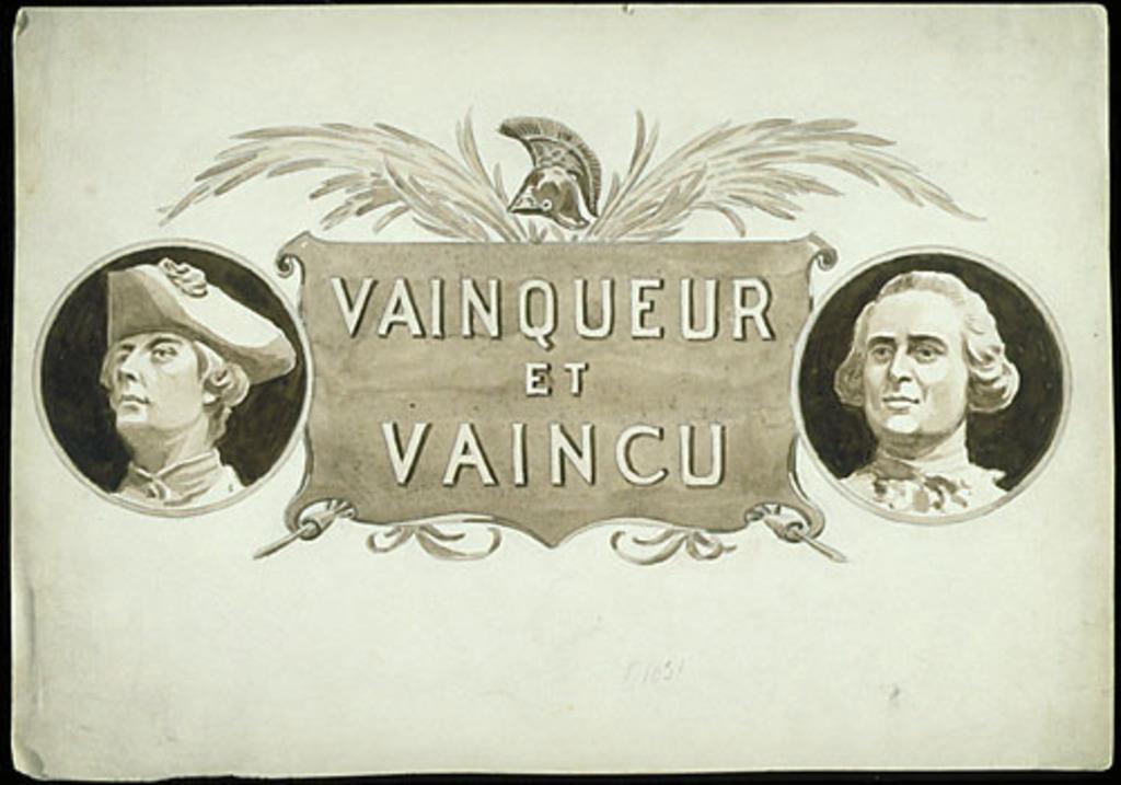 « Vainqueur et vaincu ». Illustration (vignette) pour La Légende d'un peuple, poème épique de Louis Fréchette