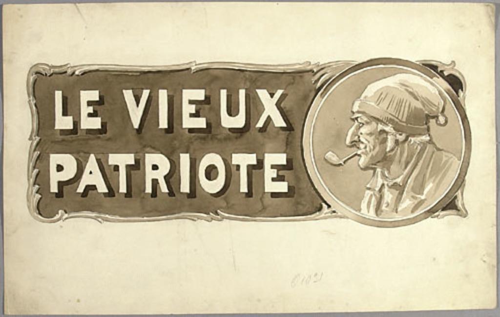 « Le Vieux Patriote ». Illustration (vignette) pour La Légende d'un peuple, poème épique de Louis Fréchette