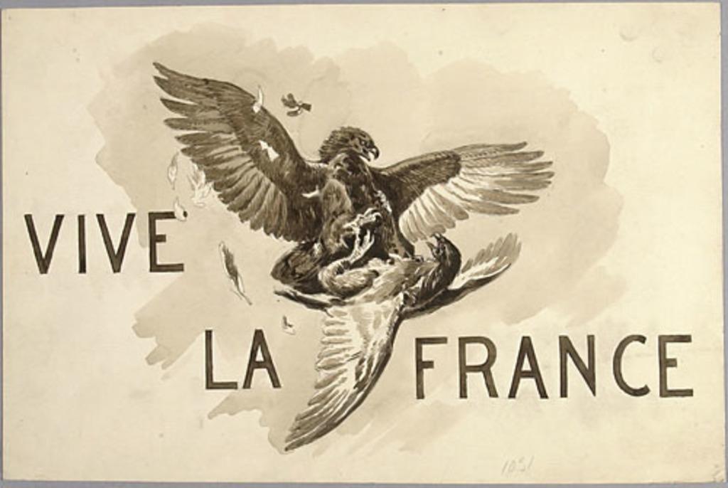 « Vive la France ». Illustration (vignette) pour La Légende d'un peuple, poème épique de Louis Fréchette