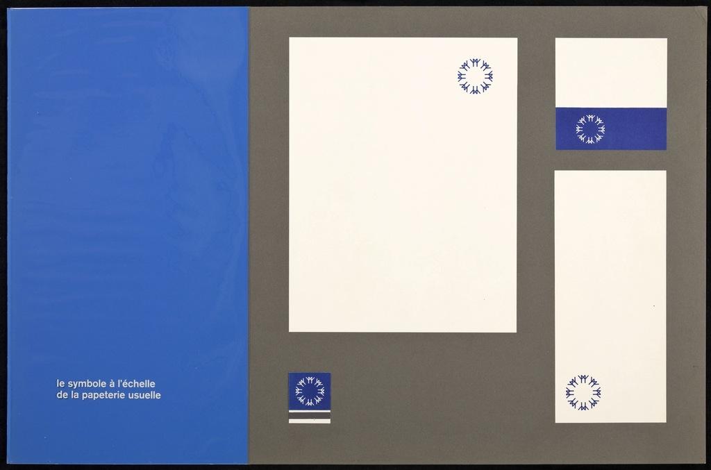 Maquette pour le logo de Terre des Hommes (Expo 67). Carton 4, la papeterie usuelle