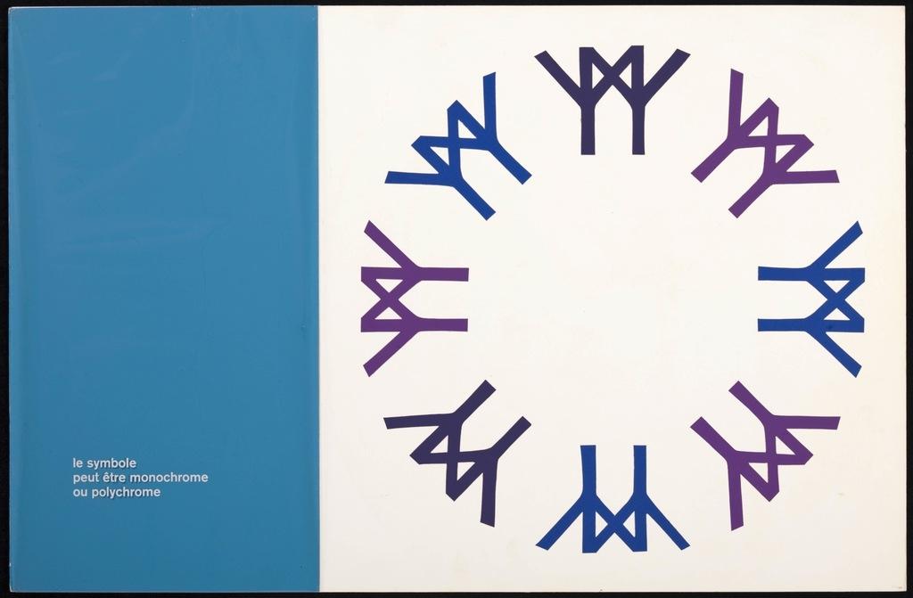 Maquette pour le logo de Terre des Hommes (Expo 67). Carton 6